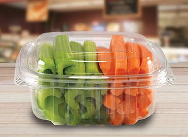 Vegetables clamshell packaging boxes