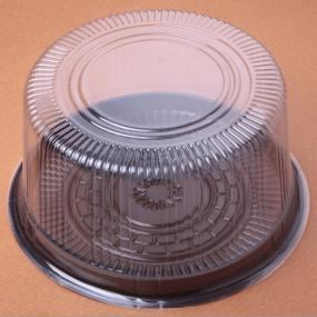 Round cake container with handle