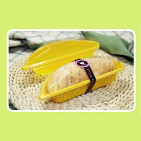 Banana shape bread container