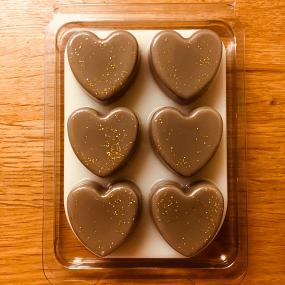 Custom Design Heart Shape Wax Melt Clamshell Box