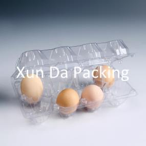 8pcs clear  plastic egg trays