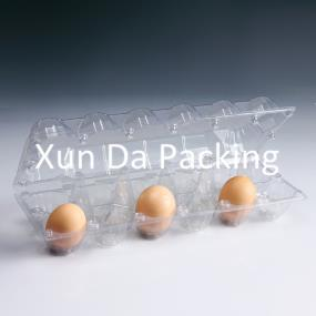 10pcs clear  plastic egg tray