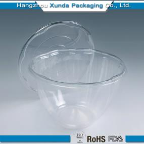 Transparent plastic salad containers 42oz