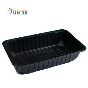 Hot Selling Plastic Black PP Microwaveable Blister Food Tray