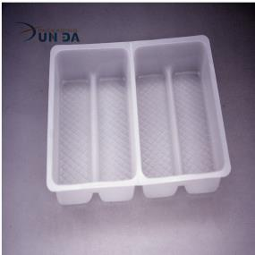 Clear Plastic Disposable Blister Divided Biscuit Cookie Tray
